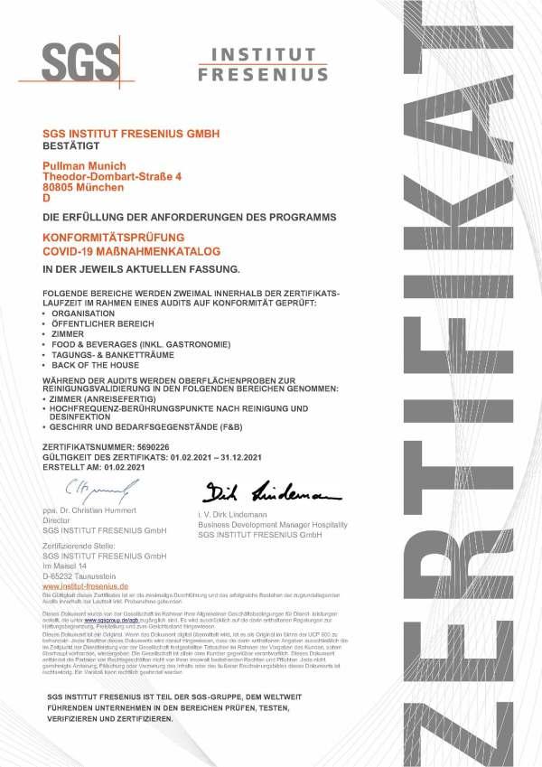 Zertifikat_ALLSAFE_2021_Pullman Munich