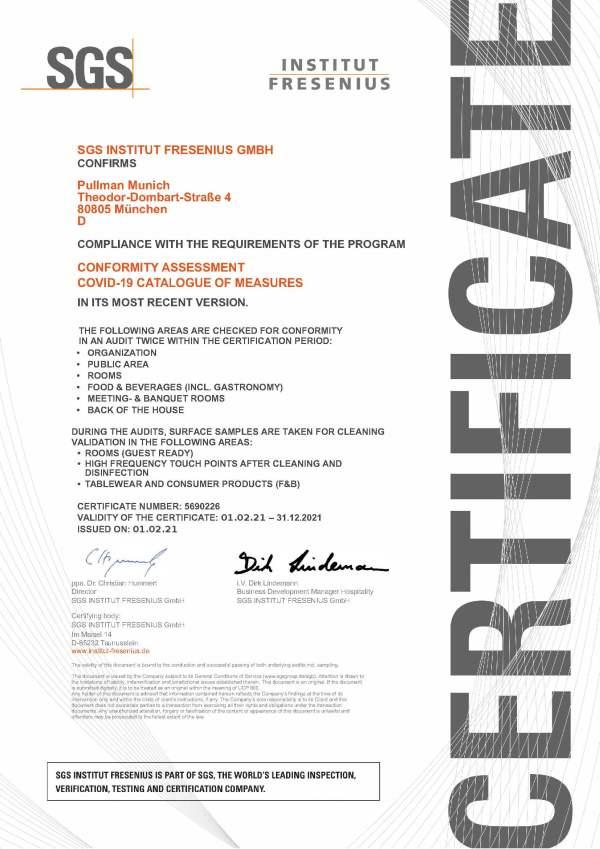 Zertifikat_ALLSAFE_2021_Pullman Munich_ENG